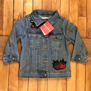 Hanna Andersson Girl's Embroidered Jean Jacket NEW